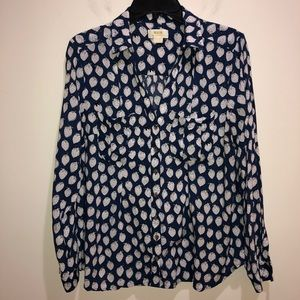 Anthropologie Maeve Sz 12 Strawberries Blouse
